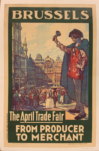 Brussels the April Trade Fair Poster
