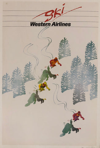 Ski Western Airlines Poster