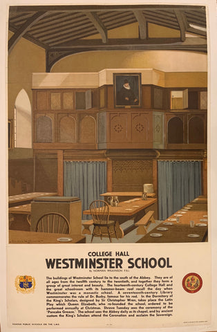 College Hall Westminster School Poster