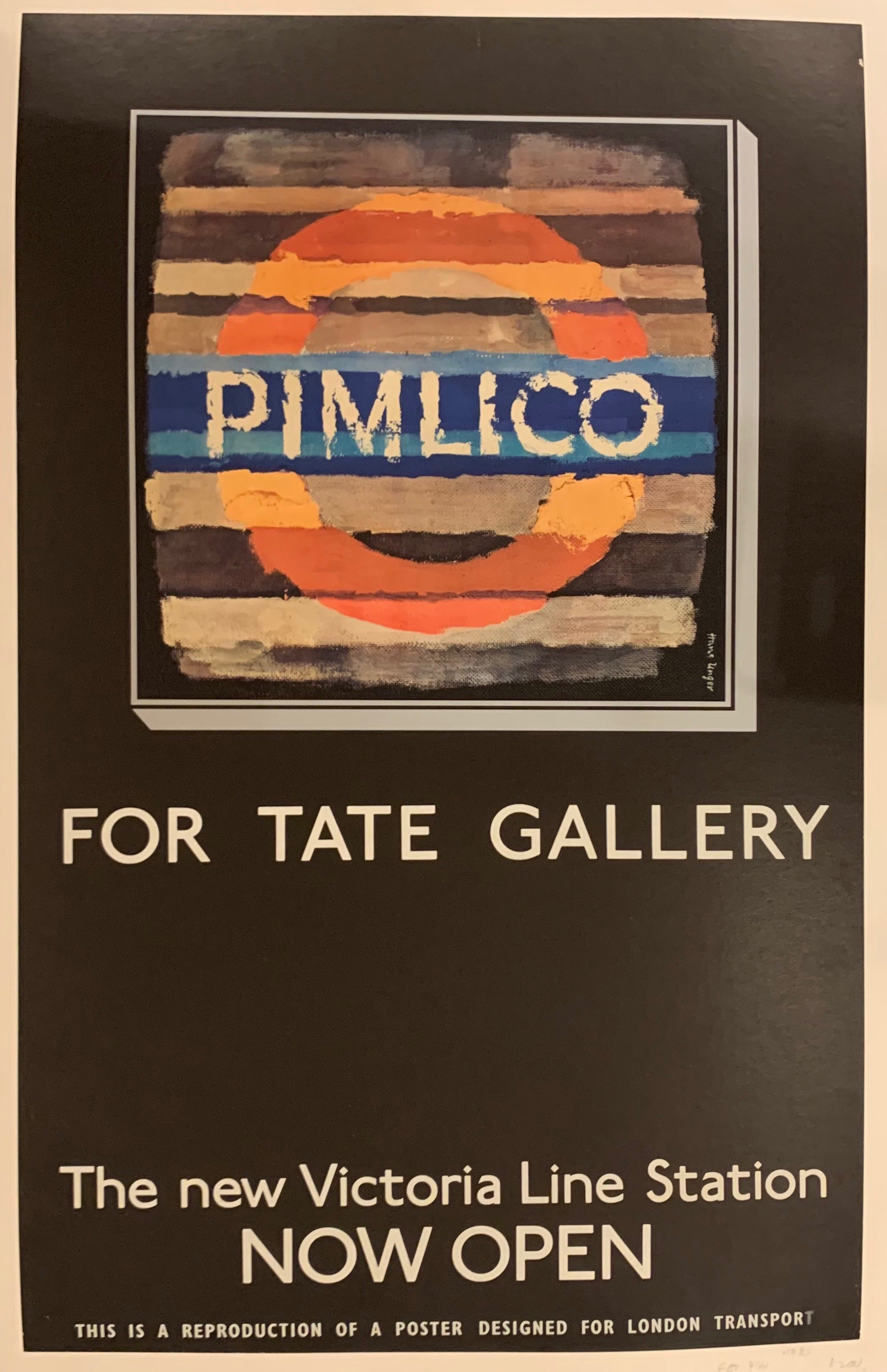 Pimlico For Tate Gallery Poster