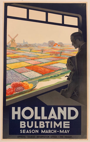 Holland Bulbtime Season Travel Poster