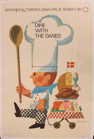Dine with the Danes Poster - Poster Museum