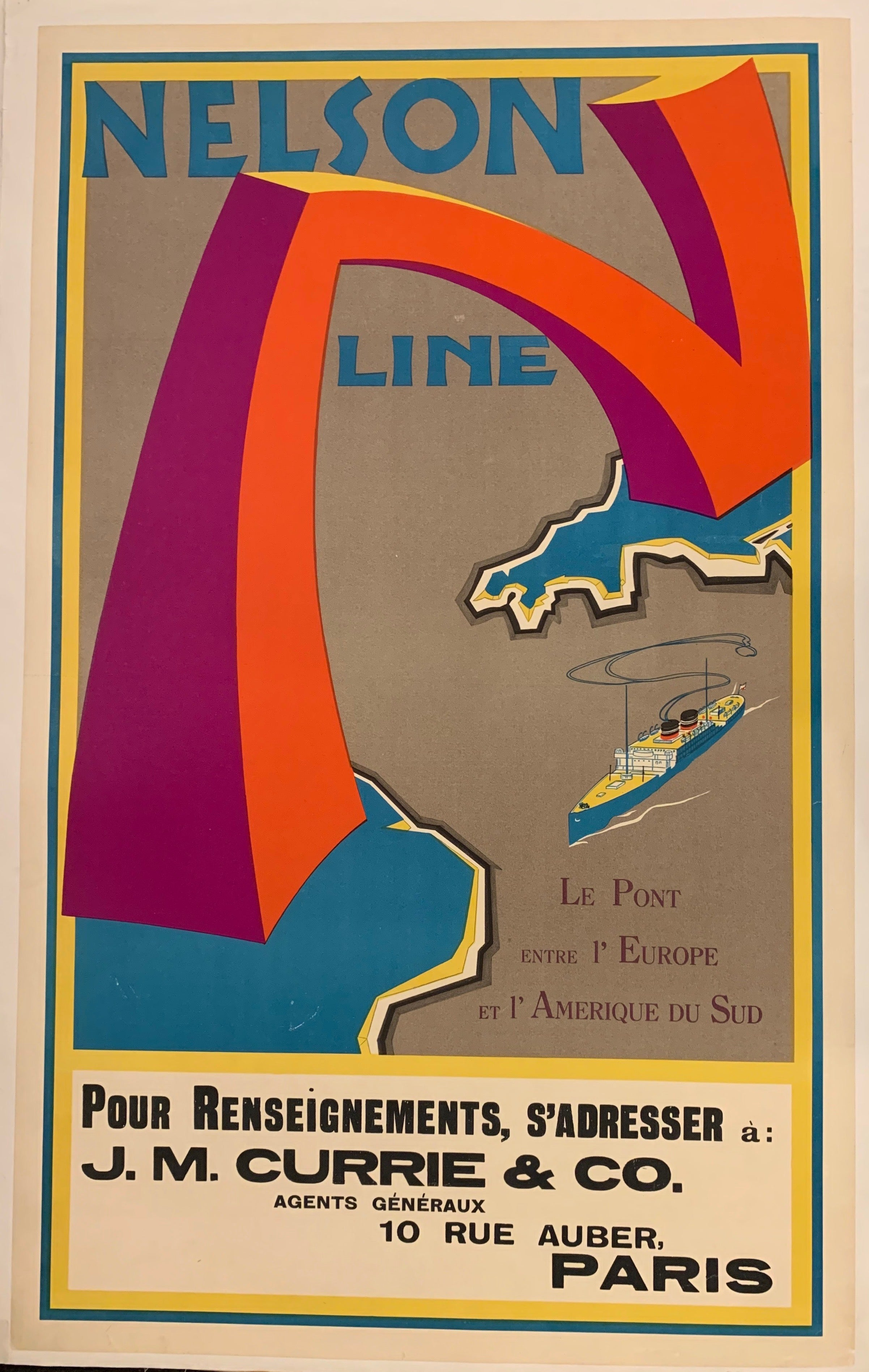 Nelson Line Poster