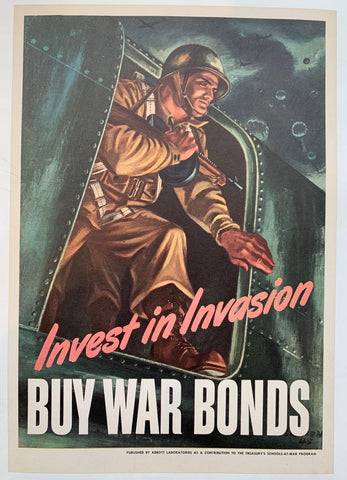 Invest in Invasion. Buy War Bonds. - Poster Museum