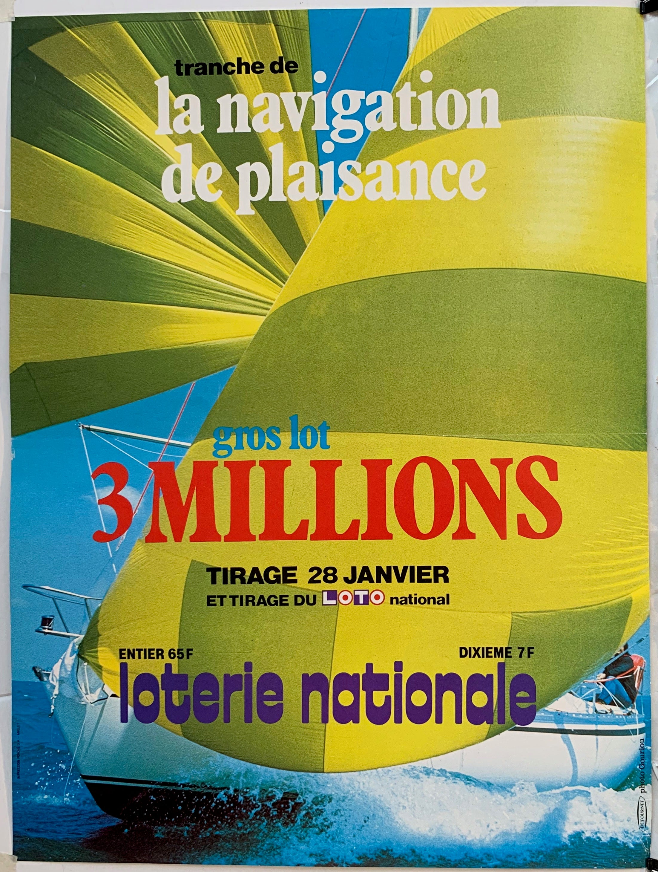 "Loterie Nationale - ""Tranche de la Navigation de Plaisance"""