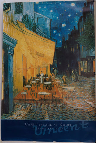 Cafe Terrace at Night by Vincent Van Gogh - Poster Museum