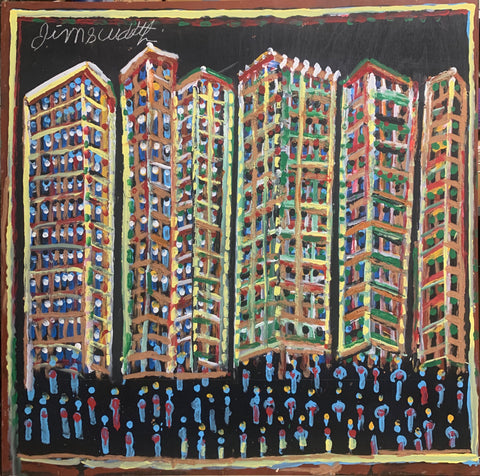 Colorful Apartments #09, Jimmie Lee Sudduth Painting