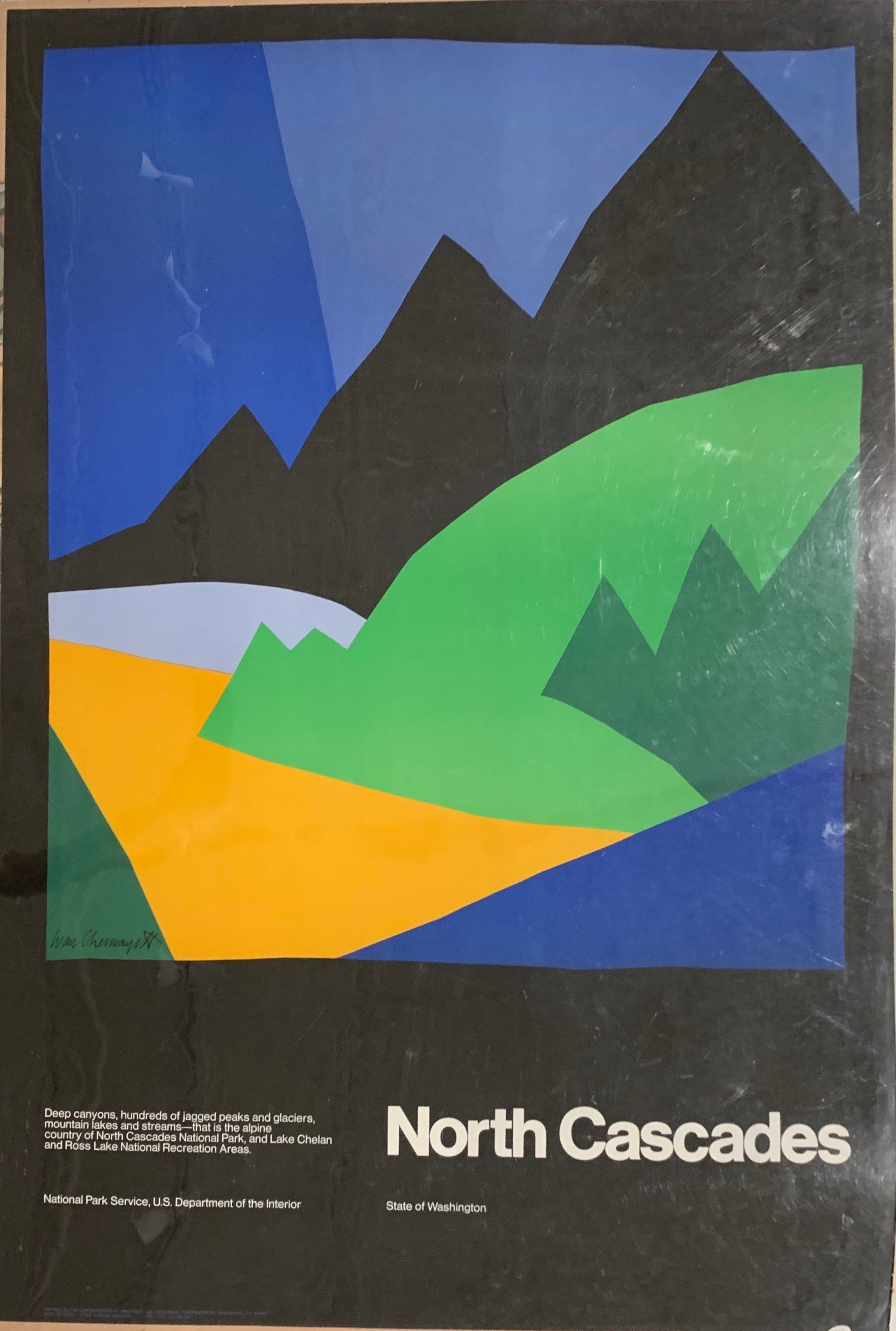 North Cascades State of Washington Poster