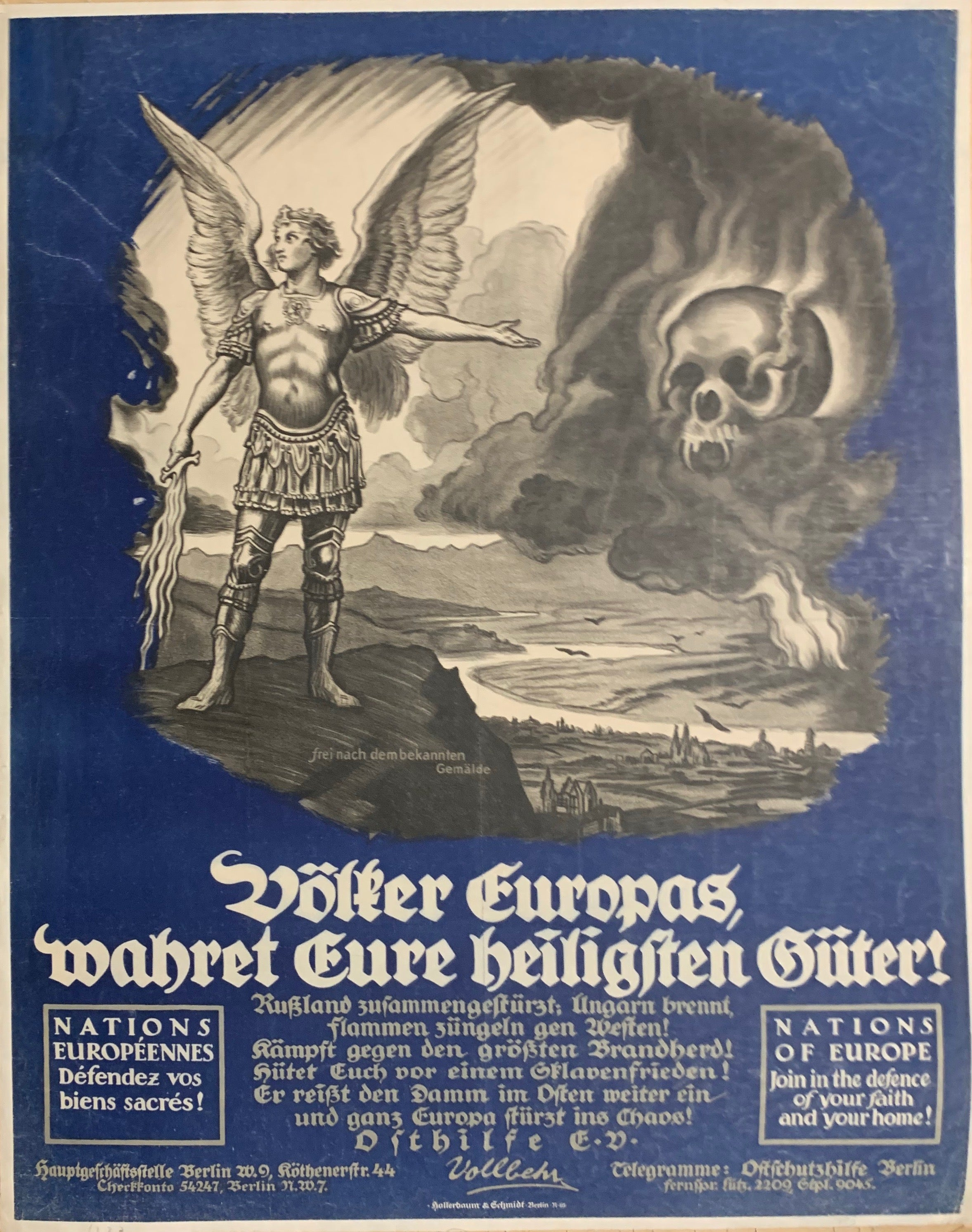 Nations Of Europe German Propaganda Poster