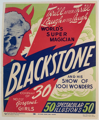 Blackstone and his show of 1001 wonders