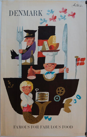 Denmark Famous for Fabulous Food - Poster Museum