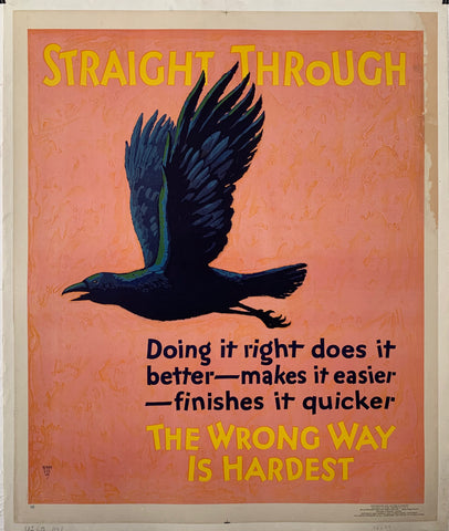 Straight Through Mather Poster