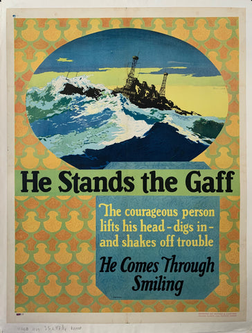 He Stands The Gaff Mather Poster