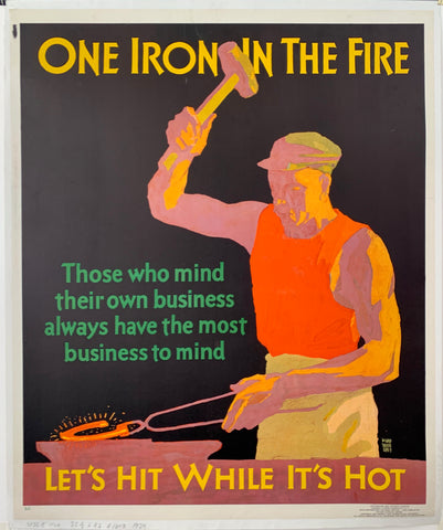 One Iron In the Fire Mather Poster
