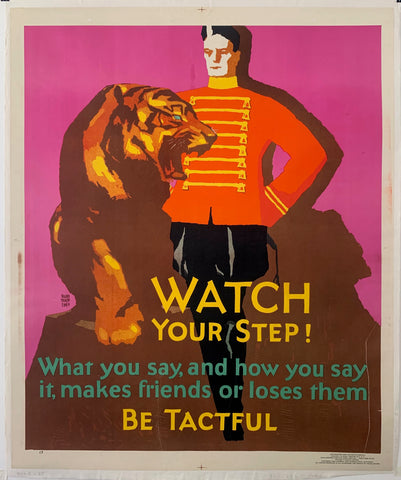 Watch Your Step Mather Poster