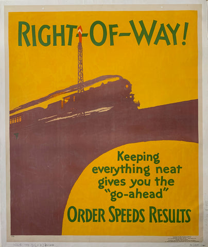 Right Of Way Mather Poster