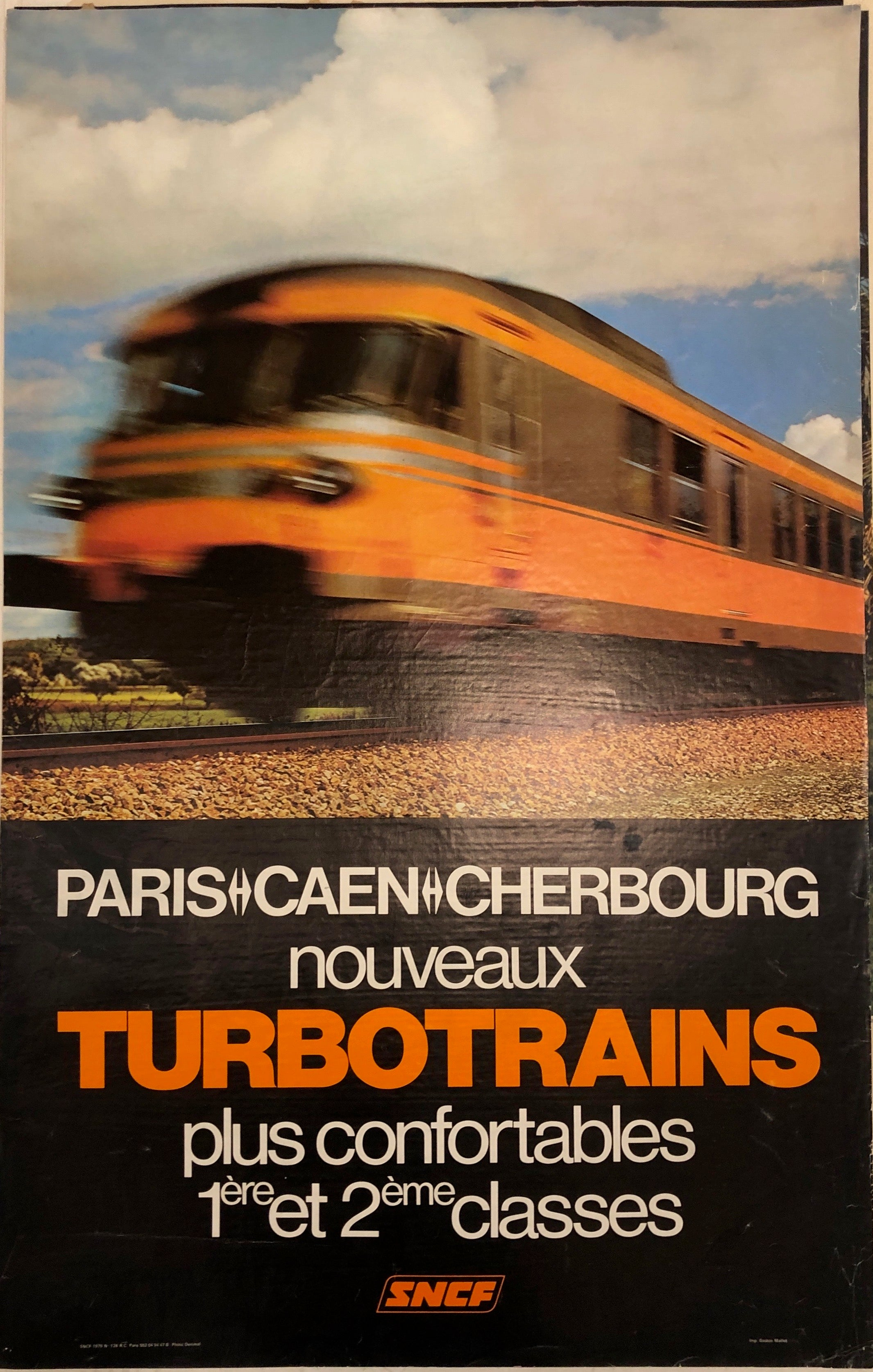 Turbotrains SNCF Poster