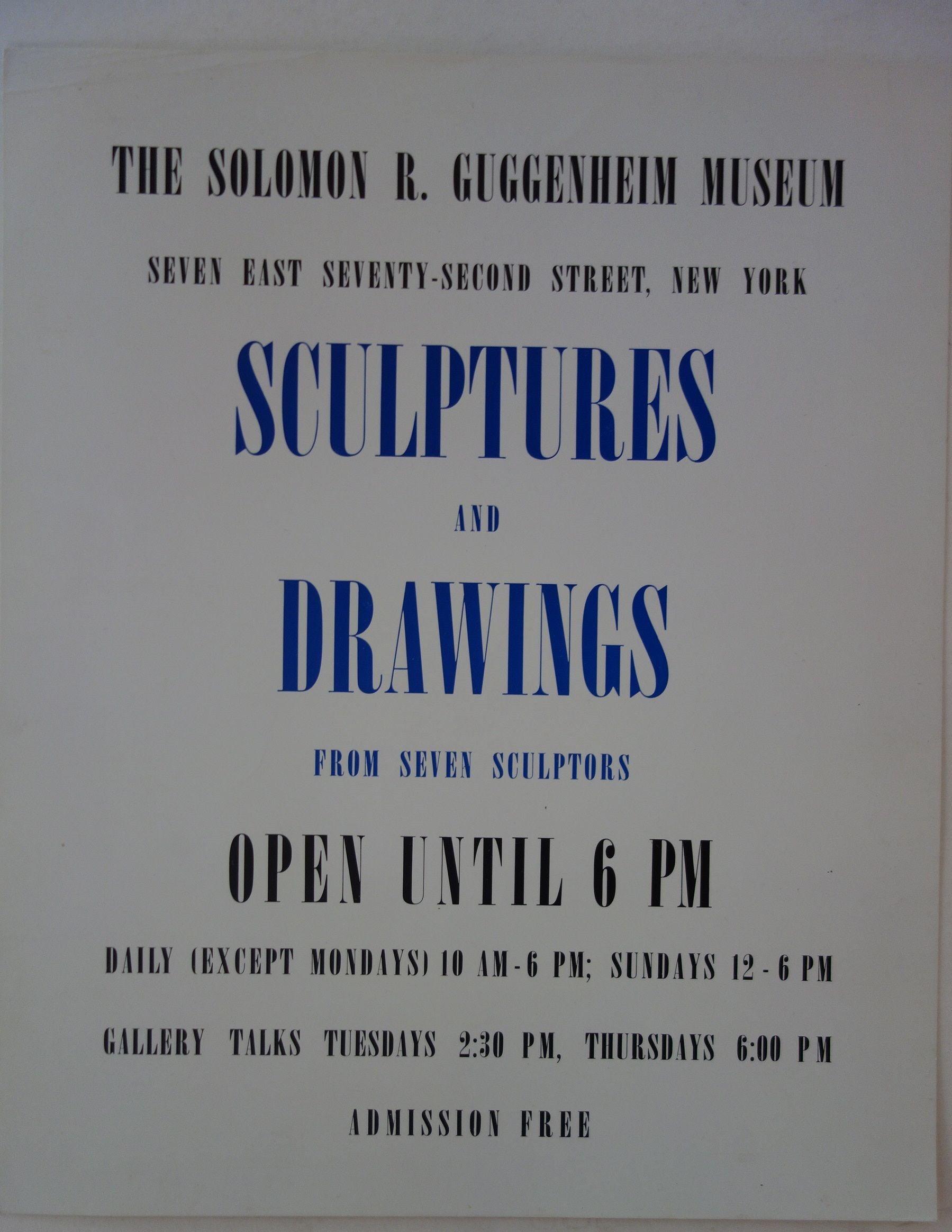 Sculptures and Drawings from Seven Sculptors