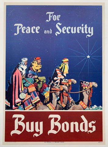 For Peace and Security. Buy Bonds. - Poster Museum