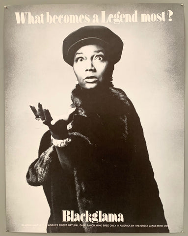 A dramatic portrait of a woman in a hat with her hand thrusted towards the viewer. The text is on the top and the bottom in black.