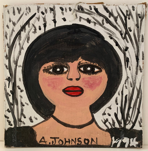 Woman With Eyeliner Anderson Johnson Painting