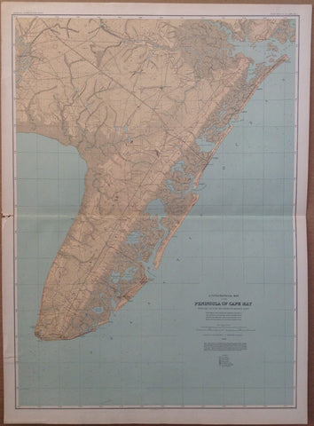 A Topographical Map of the Peninsula of Cape May