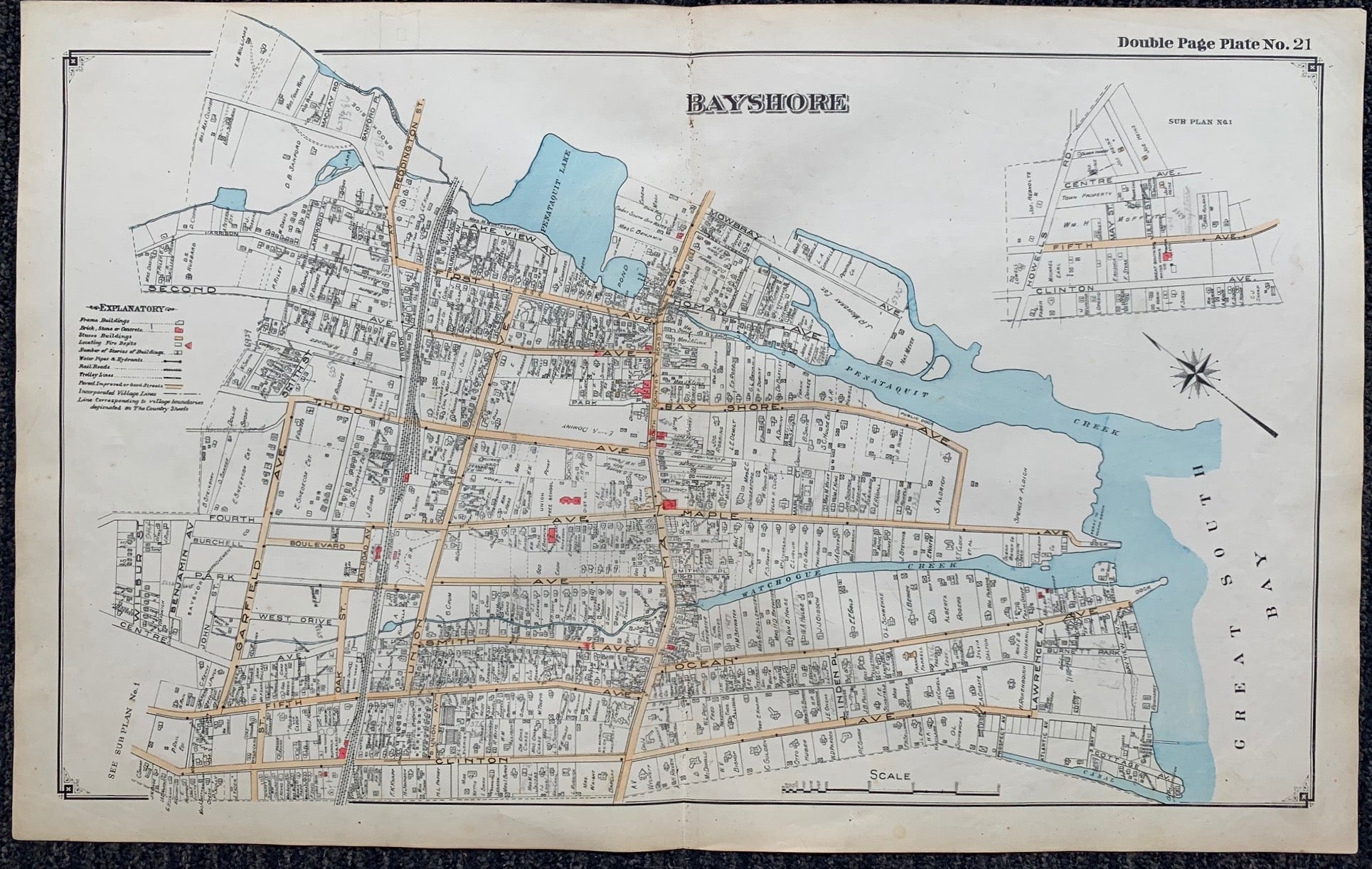 Long Island Index Map No.2 - Plate 21 Bayshore
