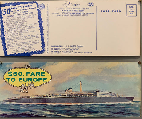 Fare to Europe Postcard