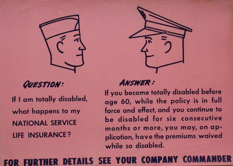 "WW2 Insurance Question: ""If I am-"""