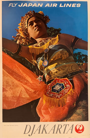 Japan Air Lines Djakarta Travel Poster