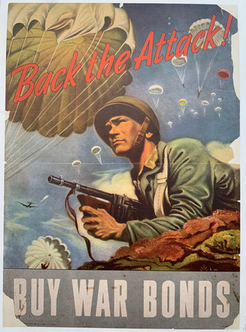 Back the Attack! Buy War Bonds. - Poster Museum