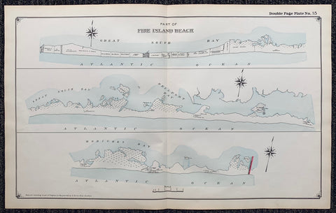 Long Island Index Map No.2 - Plate 15 Fire Island Beach