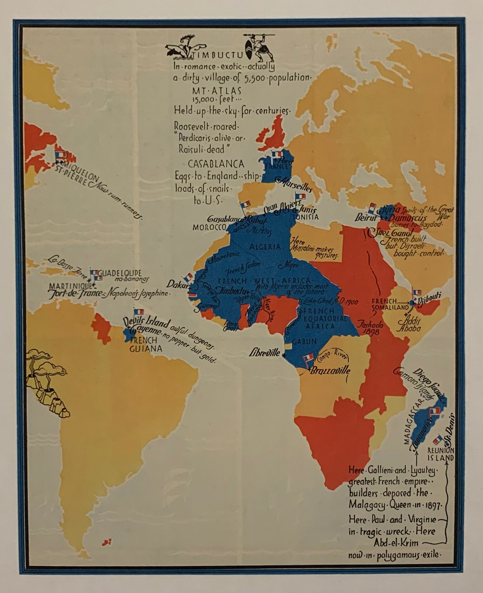 Timbuctu/Map Of French Colonial Empire
