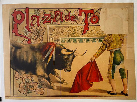 Poster of a bullfight