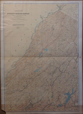 A Topographical Map of Kittatinny Valley and Mountain