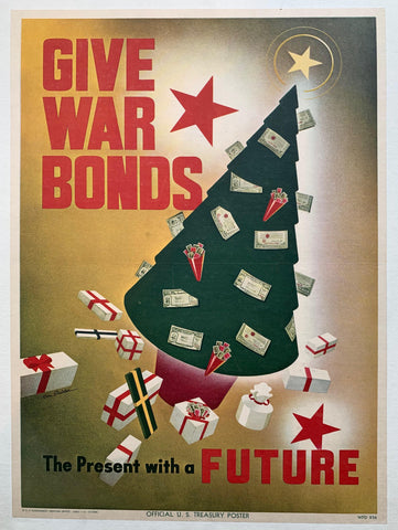 Give War Bonds, The Present with a Future - Poster Museum