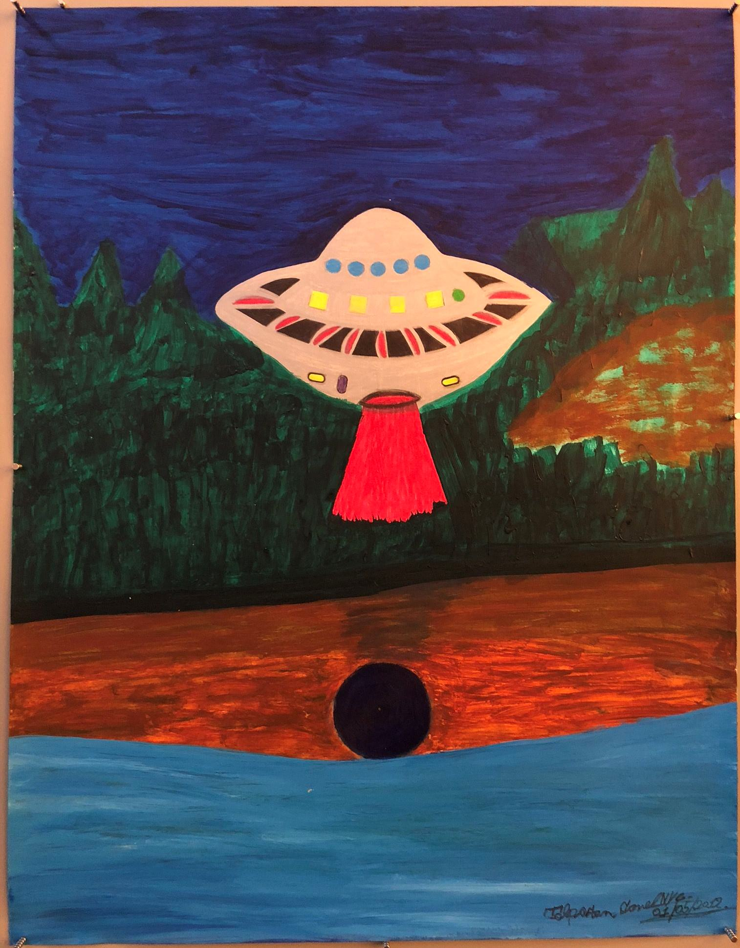 Ionel Talpazan - UFO landing by forest beaming red light