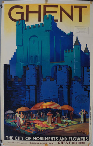 "Ghent ""The City of Monuments and Flowers"" - Poster Museum"