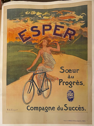 Esper Bicycles Vintage Poster