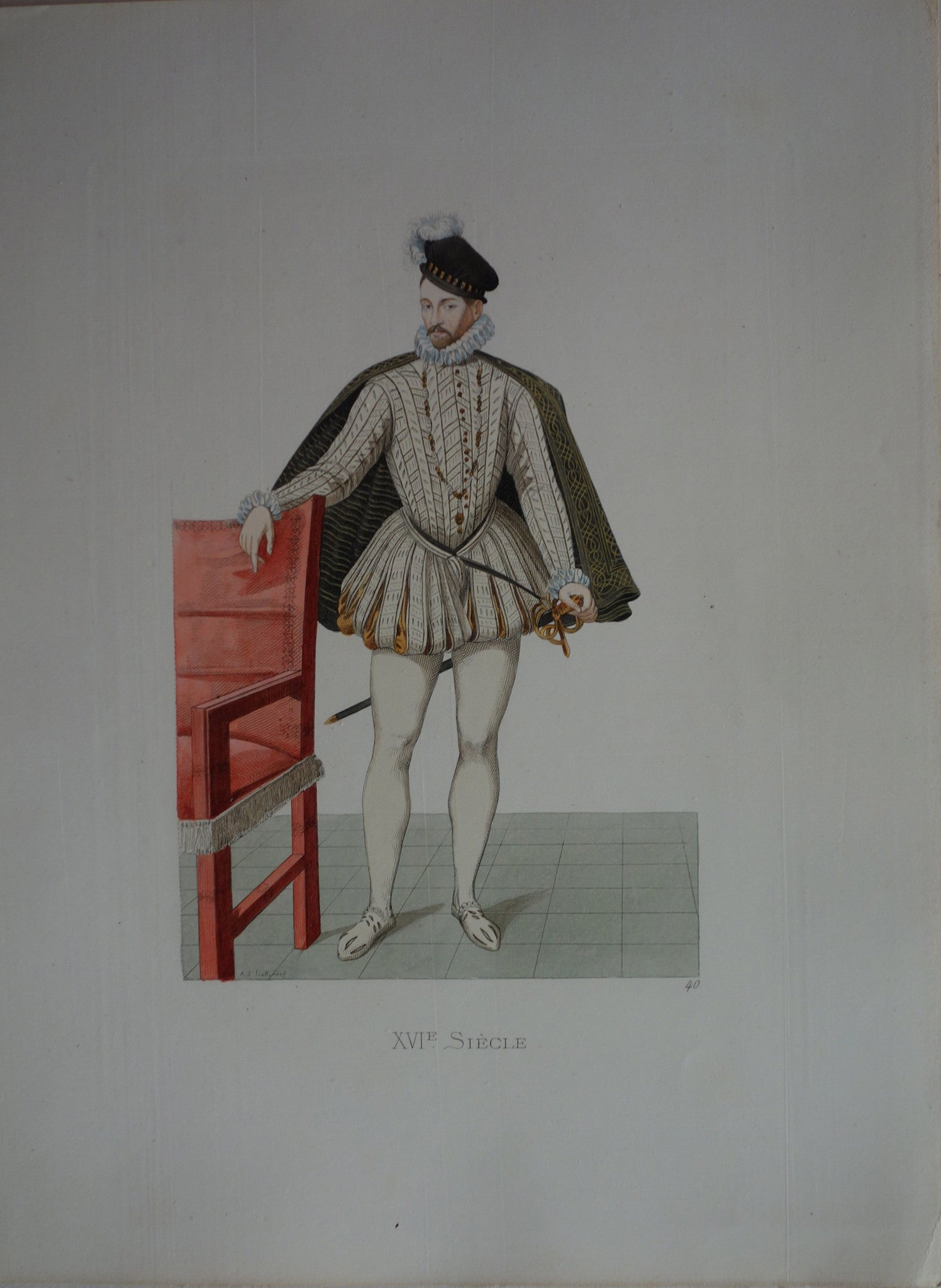 XVI Siecle King Charles IX of France