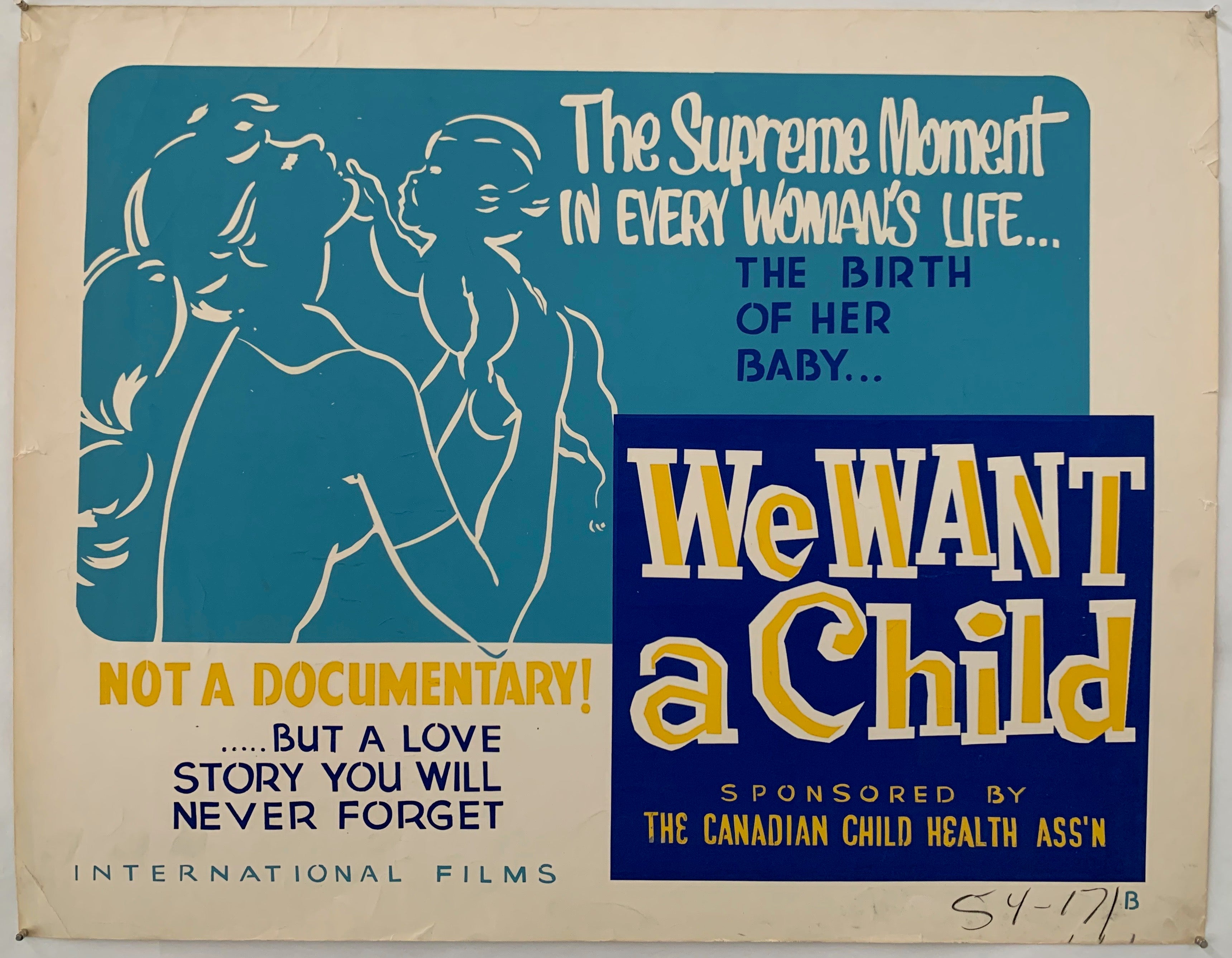 We Want A Child Poster