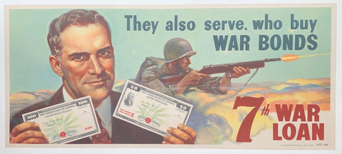They also serve, who buy War Bonds. 7th War Loan. - Poster Museum
