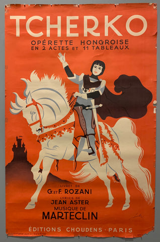 Poster of a knight on a white horse