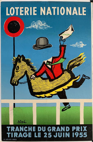 French Lottery Poster - Horse