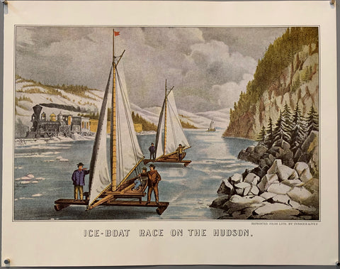 Ice-Boat Race on the Hudson Print