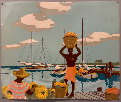 Bananas and Boats Print