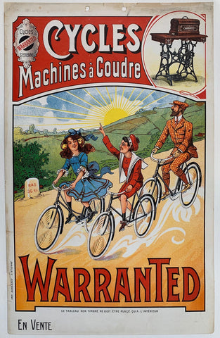 Cycles Machines à Coudre. Warranted. - Poster Museum