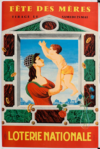 French Lottery Poster - Mother and Child