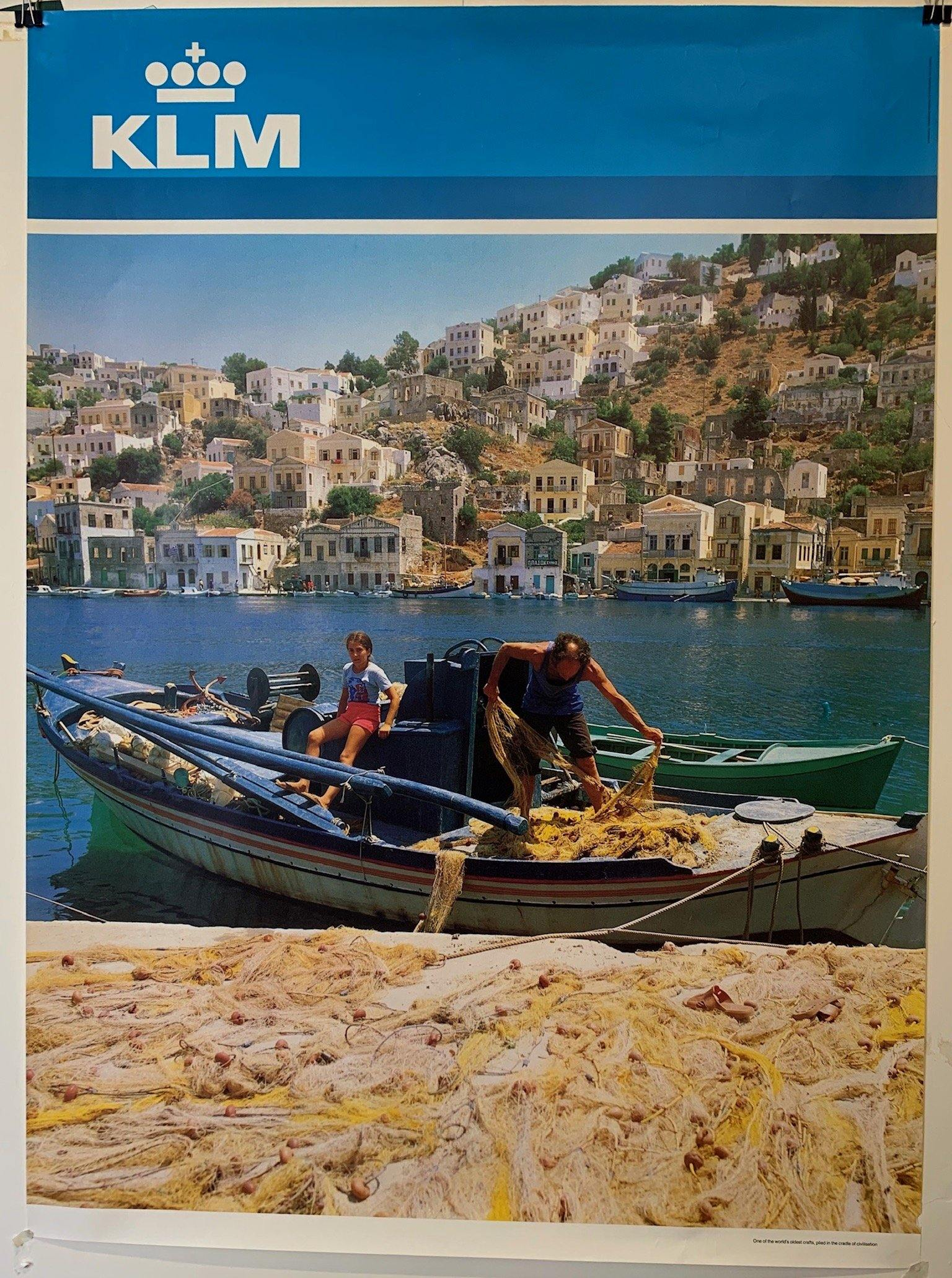"KLM Airlines Travel ""Greece"" - Poster Museum"