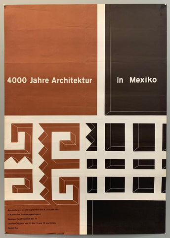 4000 Jahre Architektur in Mexiko Poster